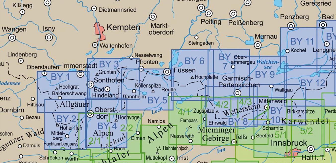 av-karte dav alpenverein skitourenkarte wanderkarte alpinklettern